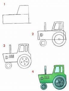 Dessiner Un Tracteur Apprendre 224 Dessiner Dessin