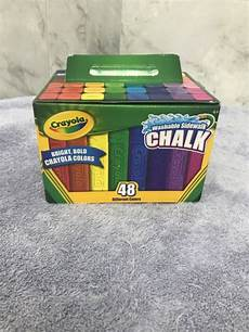 Amazon Com Washable Sidewalk Chalk 48 Assorted Bright Crayola Cyo512048 Washable Sidewalk Chalk Assorted 48