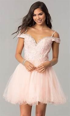 short off the shoulder homecoming dress
