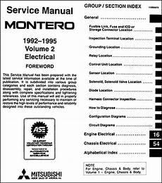 free service manuals online 1987 mitsubishi tredia on board diagnostic system 1992 1995 mitsubishi montero repair shop manual set original