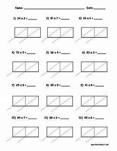 box method division worksheets free 6797 lattice multiplication 2 digit by 1 digit 10 pages lattice multiplication multiplication