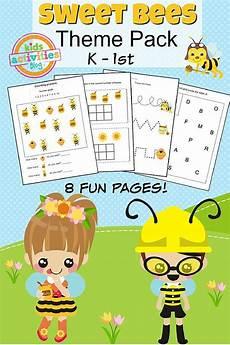 kindergarten printable activities sweet bees printable kindergarten worksheet
