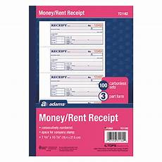 receipt books 3 part tc1182 3 part carbonless rent receipt book with 100 receipts