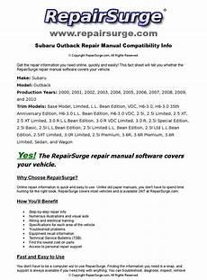 online auto repair manual 2002 subaru outback sport transmission control subaru outback online repair manual for 2000 2001 2002 2003 2004 2005 2006 2007 2008