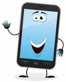 Mobile Phone Character Free Vectors