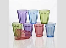8 pc Unbreakable Plastic Kids Juice Cup Drinking Glasses