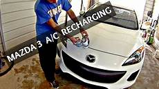 auto air conditioning repair 2012 mazda mazda6 engine control how to recharge the a c on mazda 3 2010 2011 2012 2013 recharge air conditioner youtube