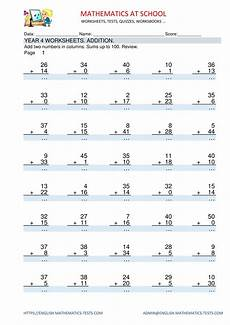 multiplication worksheets year 4 australia 4708 year 4 maths worksheets addition adding two numbers in columns sums up to 100 review