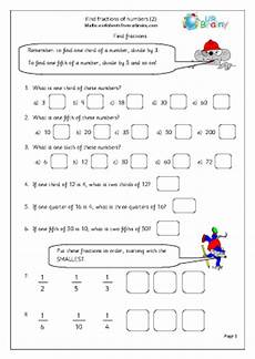 fraction worksheets year 2 free 4176 find fractions of numbers 2