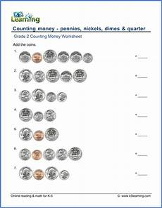 counting money worksheets for grade 2 2640 grade 2 counting money worksheet pennies nickels dimes quarters k5 learning