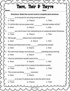 grammar worksheets there their they re 24988 their there they re worksheet homeschooldressage