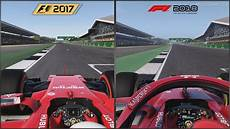 f1 2017 vs f1 2018 silverstone comparison