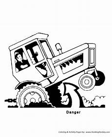Ausmalbilder Bauernhof Fahrzeuge Tractor Safety Coloring Pages Printable Tractor Tipping