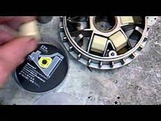 piaggio hexagon exs 125 alte rollen gegen neue dr pulley