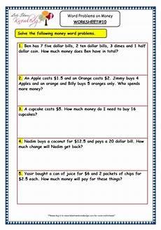 money word problem solving worksheets 11142 grade 3 maths worksheets 10 5 word problems on money lets knowledge