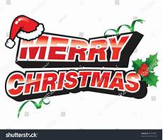 merry christmas sign santa claus hat stock vector 65949391