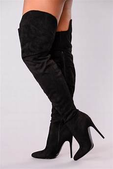 soft as suede thigh high boot black