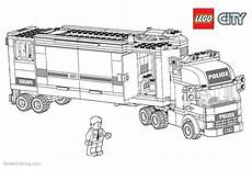lego city coloring pages truck free printable