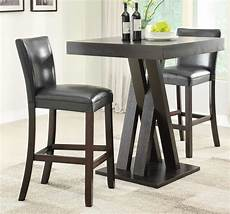 Coaster 100520 Bar Table Set Cappuccino 100520 Bar Set