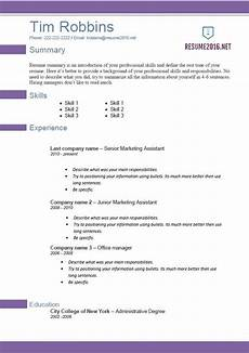 resume templates 2016 which one should you choose