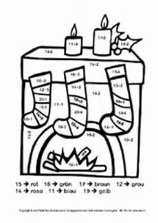 Ausmalbild Weihnachten Rechnen Unterrichtsmaterial Grundschule Grundschulmaterial De