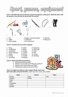 sport games equipment worksheet free esl printable worksheets made by teachers