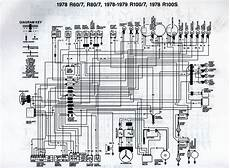 1978 bmw r80 7 wiring diagram scanned from a workshop manu