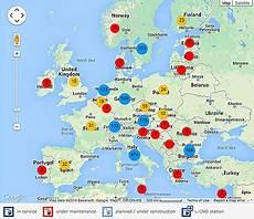 Erdgastankstellen Italien Karte Kleve Landkarte