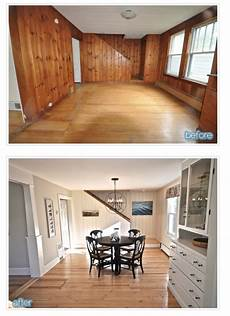 Decorating Ideas Painting Wood Paneling by Knotty Pine Panelling Transformed By Paint In 2019
