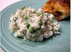 creamy rice with peas and herbs_image