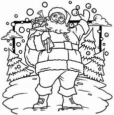 free printable santa claus coloring pages for