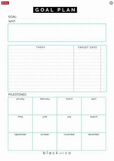 printable goal plan sheet free printable goal sheets