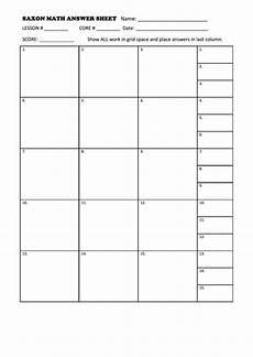 saxon math answer sheet printable pdf download