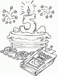 Malvorlagen Age Cake Birthday Cake Age 5 Coloring Page Coloring