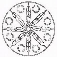Ausmalbild Indianer Mandala Kuturelle Mandalas