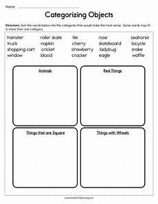categorizing worksheets for 4th grade 7927 categorizing objects worksheet teaching