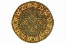 ziegler teppich rund beige hellblau in 150x150cm 5001 45