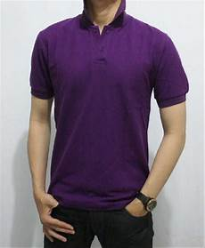 jual polo polos ungu kaos kerah tshirt polo kaos polo polo shirt kaos berkerah baju