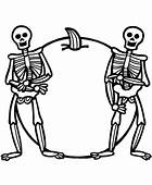 Skeleton Coloring Page & Book