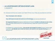 location avec option achat en clair cr 233 dit auto ou loa que choisir