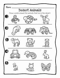 animal habitats science activity and worksheets the