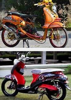 Modifikasi Motor Fino Sporty by Gambar Foto Modifikasi Motor Yamaha Mio Fino Sporty Keren