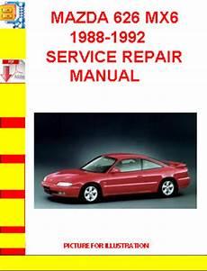 old car owners manuals 1988 mazda mx 6 security system mazda 626 mx6 1988 1992 service repair manual tradebit