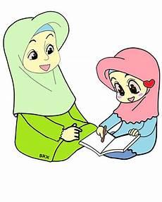Gambar Kartun Islami Ibu Dan Anak Colouring Mermaid