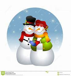 hugging snowman stock illustration illustration of