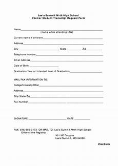 top 26 high school transcript request form templates free to download in pdf format