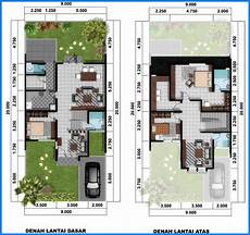 14 Denah Rumah Minimalis 2 Lantai Modern Sederhana 2020