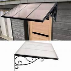 auvent marquise de porte en fer design r 233 tro 80x100 cm