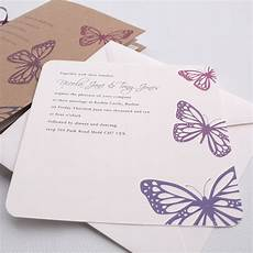 Wedding Invitation Butterfly Design