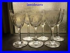 bicchieri di baccarat 6 bicchieri di cristallo baccarat moliere 1916 stock 4 x 6